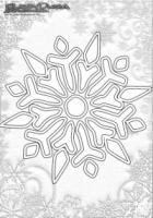 Winter Mandala Ausmalbilder Schnee Flocke