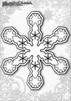 Winter Mandala Ausmalbilder Schnee Flocken