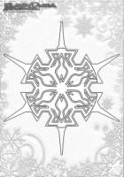 Winter Mandala Ausmalbilder Schneeflocken