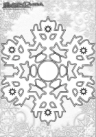Winter Mandala Ausmalen Schnee Flocken
