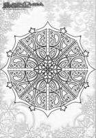 Winter Mandala Ausmalen Schneeflocken
