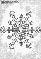 Winter Mandala Malbild Schnee Flocke