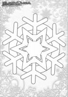 Winter Mandala Malbild Schneeflocke