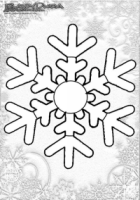 Winter Mandala Malbild Schneeflocken