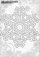 Winter Mandala Malbilder Schnee Flocke