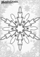 Winter Mandala Malbilder Schnee Flocken