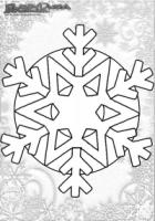 Winter Mandala Malbilder Schneeflocke