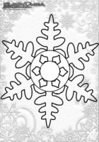 Winter Mandala Malbilder Schneeflocken