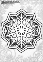 Winter Mandala Malvorlage Schnee Flocke