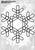 Winter Mandala Malvorlage Schnee Flocken