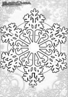 Winter Mandala Malvorlage Schneeflocke