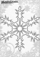 Winter Mandala Malvorlage Schneeflocken