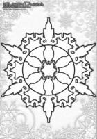 Winter Mandala Malvorlagen Schnee Flocke
