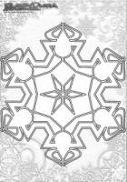 Winter Mandala Malvorlagen Schneeflocken
