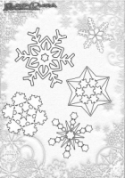 Winter Mandala Schneeflocken