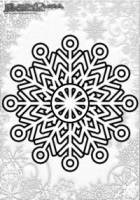 Winter Mandala Vorlage Schneeflocken
