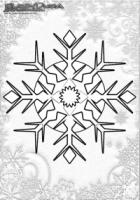 Winter Mandala Vorlagen Schneeflocken
