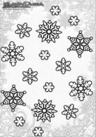 Winter Mandalas Schneeflocken