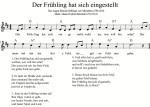 Kinderlied kostenlos mit Noten, Test und Musik mp3 gratis zum Download und freier Verfügung. Singen und Musizieren. Gemafrei. Für Kinder, Kita, Schule, Grundschule, Chor, Frühlingslied, Der Frühling hat sich eingestellt,