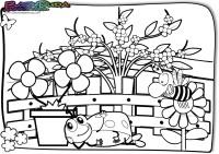 Frühling-Ausmalbild-Biene