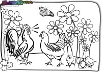 Frühling-Ausmalbild-Kuecken