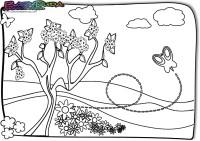 Fruehling-Ausmalbild-Wiese