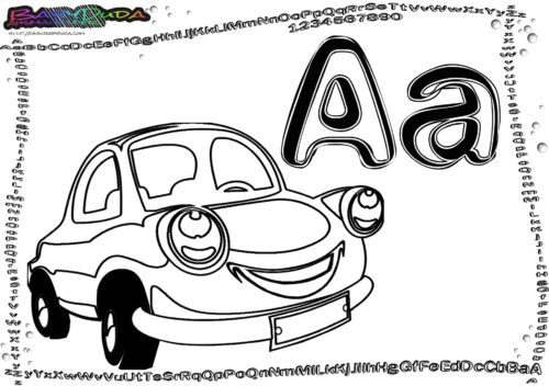 Abc Buchstaben Malvorlagen Fahrzeuge Zum Ausmalen Babyduda