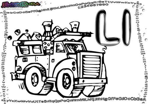 Alphabet Buchstabe ABC L-Lastwagen