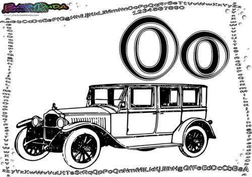 Alphabet Buchstabe O-Oldtimer