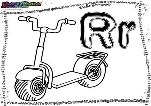 Alphabet-Malen Buchstabe R-Roller