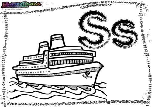Alphabet-Fahrzeuge Buchstabe S-Schiff