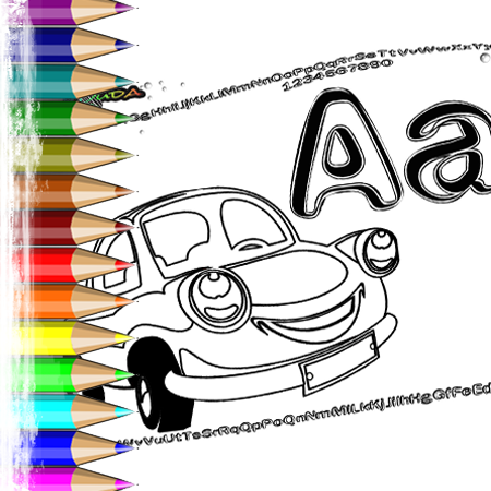 ABC Buchstaben Malvorlagen - Fahrzeuge zum Ausmalen | BabyDuda »