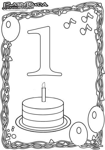 Geburtstag Ausmalbild-1