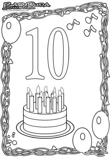 Geburtstag Ausmalbild-10