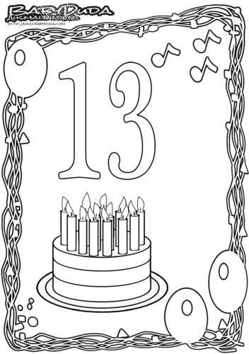 Geburtstag Ausmalbild-13