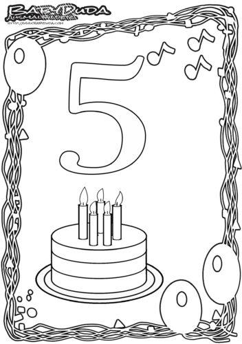 Geburtstag Ausmalbild-5