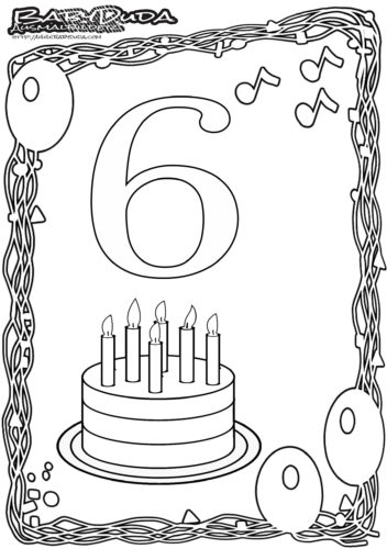 Geburtstag Ausmalbild-6