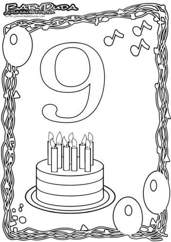 Geburtstag Ausmalbild-9