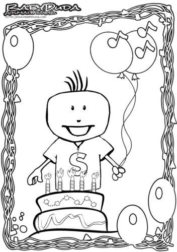 Geburtstag Ausmalbild Geburtstagskind