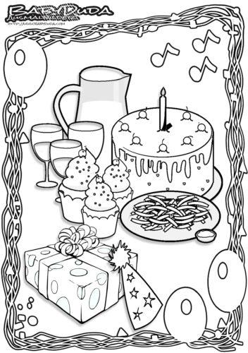 Geburtstag Ausmalbild Geburtstagsparty