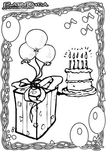 Geburtstag Ausmalbild Geschenk