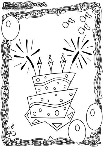 Ausmalbilder Malvorlagen Geburtstag Babyduda Malbuch