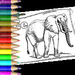 Tiere Ausmalbilder mit Buchstaben und ABC Malvorlagen