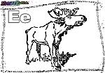 ABC-Buchstabe-E-Elch
