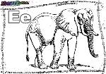 ABC-Buchstabe-E-Elefant