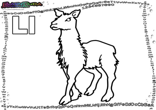 ABC Tier-Malbild Buchstabe K-Krabbe