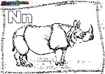 ABC-Buchstabe-N-Nashorn