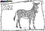 ABC-Buchstabe-Z-Zebra
