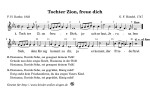 Tochter Zion, freue dich | Kirchliches Weihnachtslied für Schule, Chor, Verein zum Singen in der Weihnachtszeit. Ausdrucken, Kopieren, Singen, Musizieren