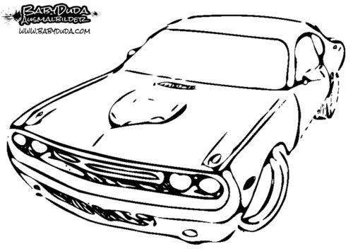 Ausmalbild Amerikanisches Auto